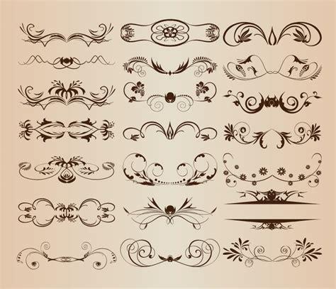 decorative design elements vector free vintage ornament decorative design elements vector set 1