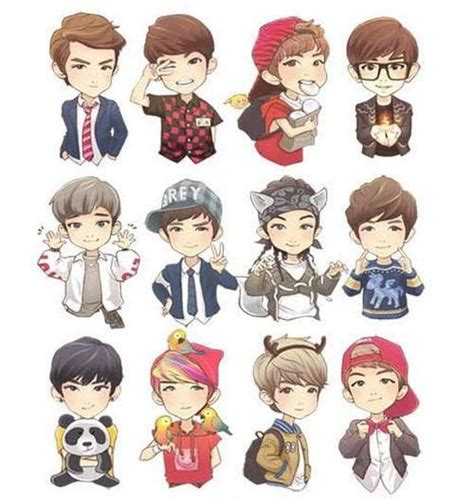 wallpaper animasi exo exo chibi exo pinterest deer sehun and fan art