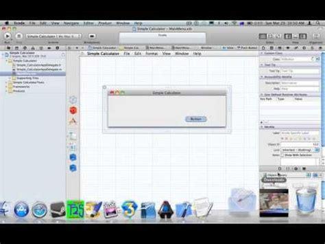 calculator xcode xcode 4 simple calculator youtube