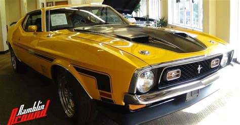 1971 ford mustang v8 mach 1 fastback american muscle car