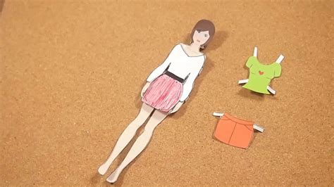 How To Make Paper Clothes - how to make paper dolls 11 steps with pictures wikihow