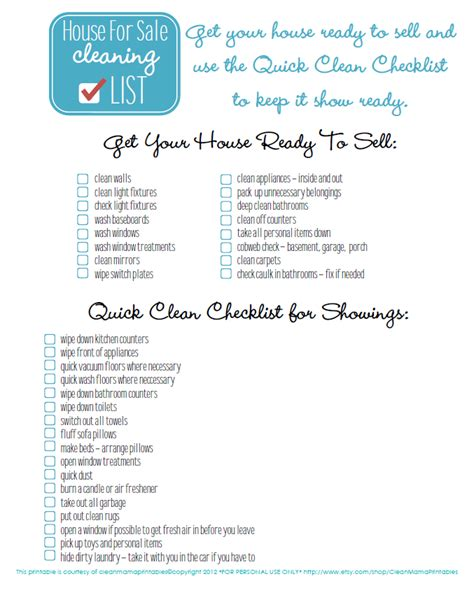 quick house cleaning house for sale cleaning checklist freebie clean mama