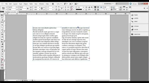 photoshop cs5 text tutorial youtube indesign cs5 tutorial easy way to make columns of text
