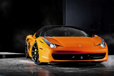 orange ferrari ferrari 458 italia in satin orange on lexani wheels