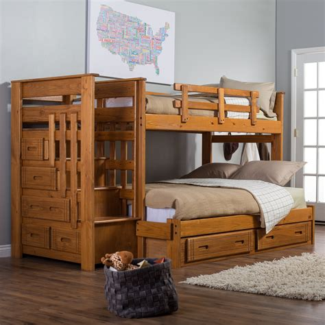 full size bunk beds with stairs full over twin bunk beds with stairs with nice each step