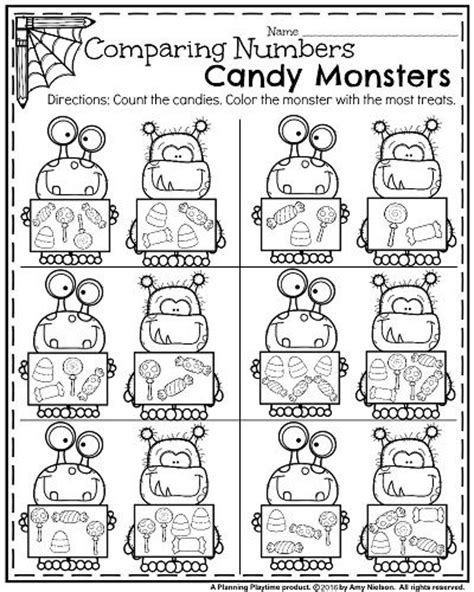 printable comparing numbers games october kindergarten worksheets a website count and