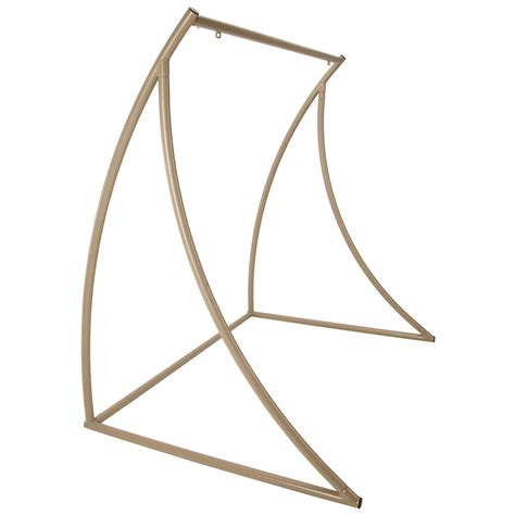hammock swing with stand curved taupe metal double swing stand on sale swsc2t