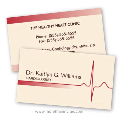 Cardiology Business Cards Templates by Doctor Business Card Cardiology Cardiologist Cardiac