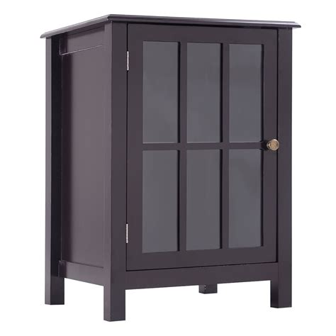 cabinet with shelves and doors one door accent cabinet storage cabinet 2 shelf display home decor coffee new 6952938385732 ebay