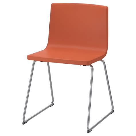 ikea orange armchair bernhard chair chrome plated mjuk orange ikea