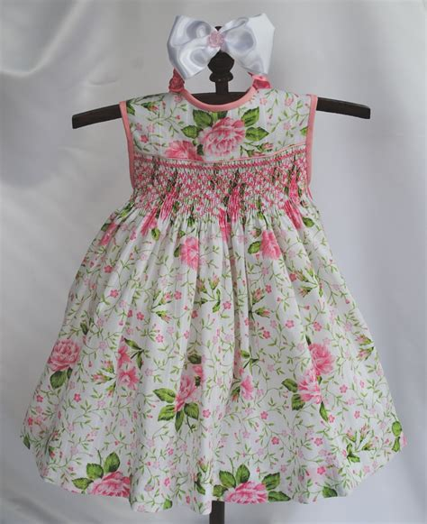 Handmade Smocked Dresses - smocked baby dress 6 months last one in this