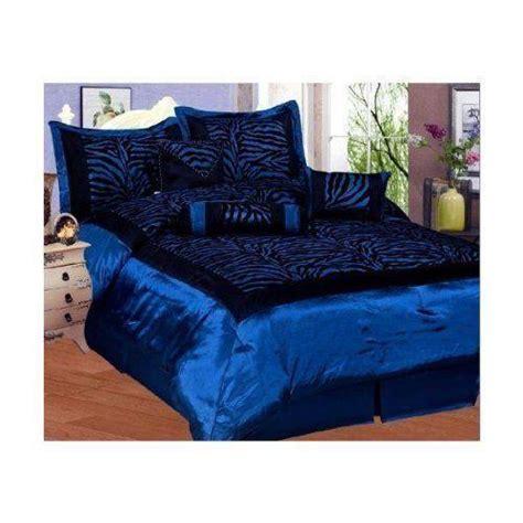 Blue Zebra Print Bedding Ebay Blue Zebra Bedding
