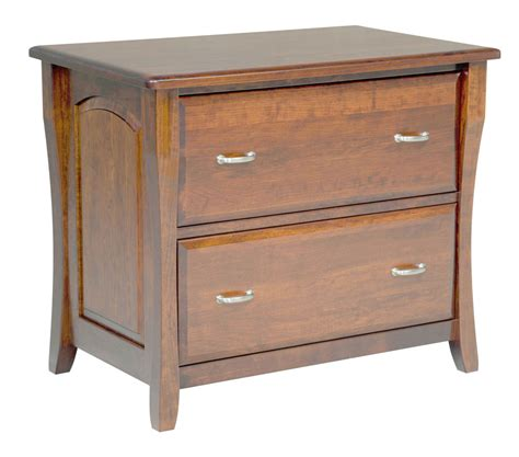 Amish File Cabinet Solid Wood Wooden Lateral 2 Drawer