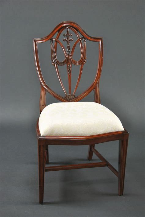shield back dining room chairs mahogany shield back dining chairs fleur de lis shield
