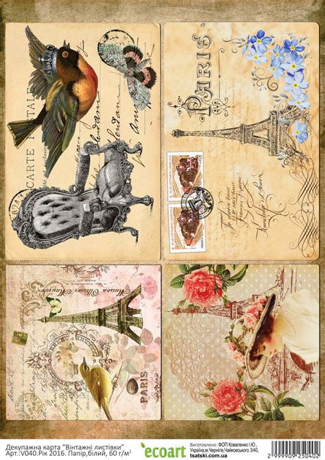 Prints For Decoupage - print decoupage card scrapbooking paper vintage birds