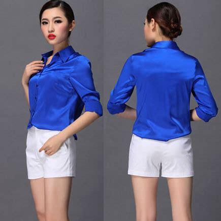 Blouse Yukaa wholesale s xxxl fashion silk satin blouse button