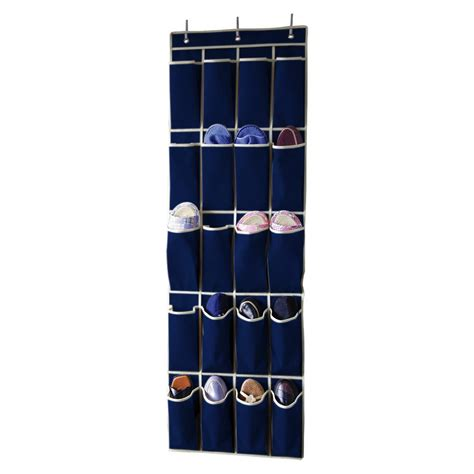 over the door shoe organizer sunbeam 20 pocket over the door shoe organizer sb10213 blu