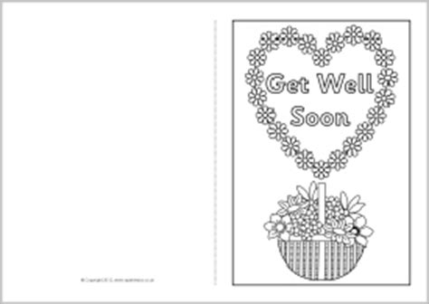 get well card coloring template get well soon printable coloring pages coloring pages