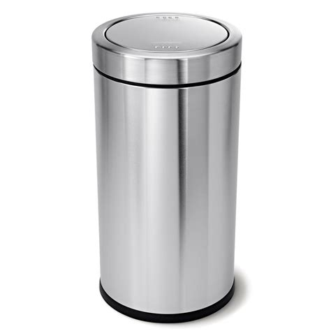 simplehuman in cabinet trash can simplehuman 55 liter brushed stainless steel swing top