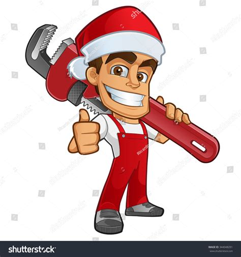 Cimarelli S Plumbing Santa by Sympathetic Plumber Santa Claus Dress Hes Stock Vector