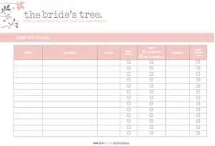 Pin wedding guest address list template on pinterest