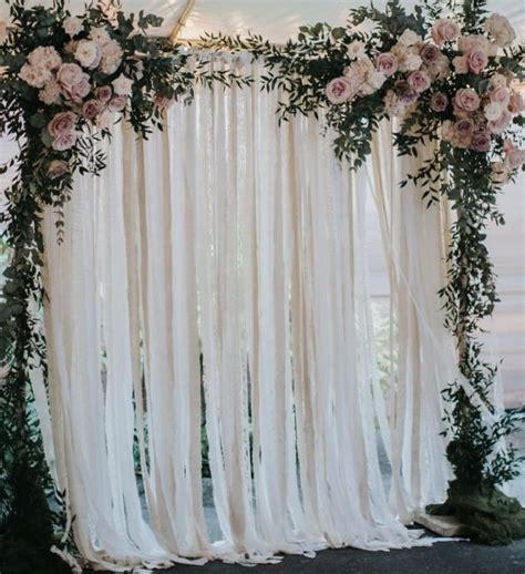 wedding backdrop in the philippines cotton lace wedding backdrop