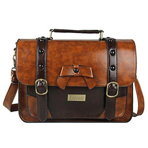 Satchel Bag No Brand ecosusi brand new vintage designer faux leather satchel bag school message handbag brown top