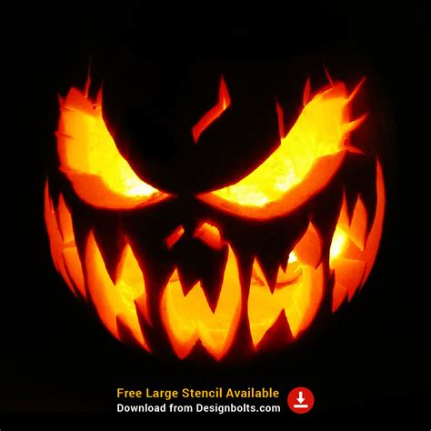 selected  creative scary pumpkin carving ideas