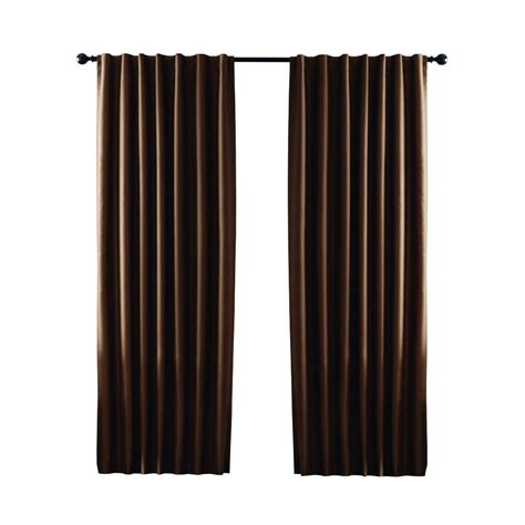 home depot curtain panels home decorators collection deep brown textured thermal