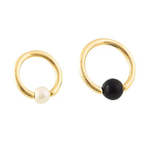 gold captive bead ring captive bead ring gems gold jewelry with style