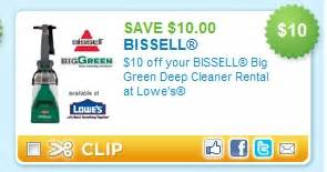 bissell big green cleaner rental at lowe s 10 or 15