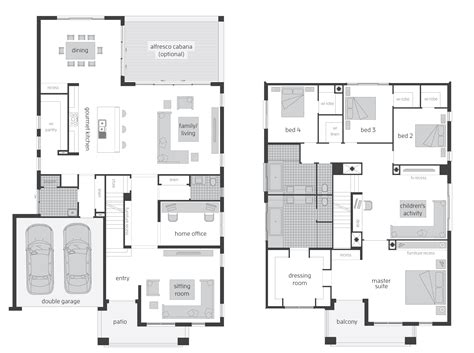 Tallavera Floorplans Mcdonald Jones Homes Two Storey House Plans With Kitchen Upstairs