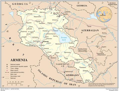 armenia political map mapsofnet