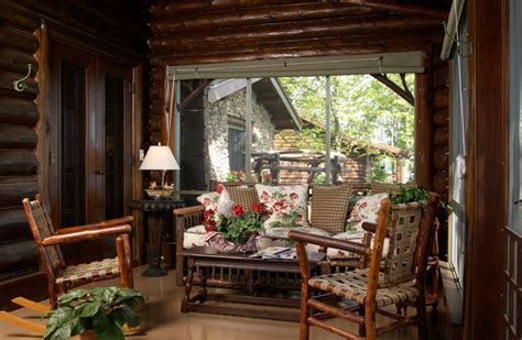 Cabin Porch by Bay Lake Cabin Rustic Porch Minneapolis By