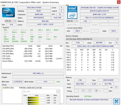 Intel Celeron N3450 voyo vmac mini mini pc benchmarks with intel celeron n3450