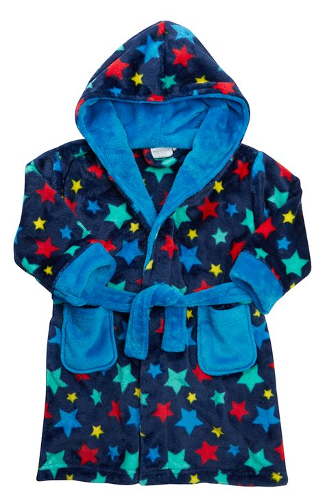 slippers and robe uk boys luxury fleece dressing gown soft hooded bath robe