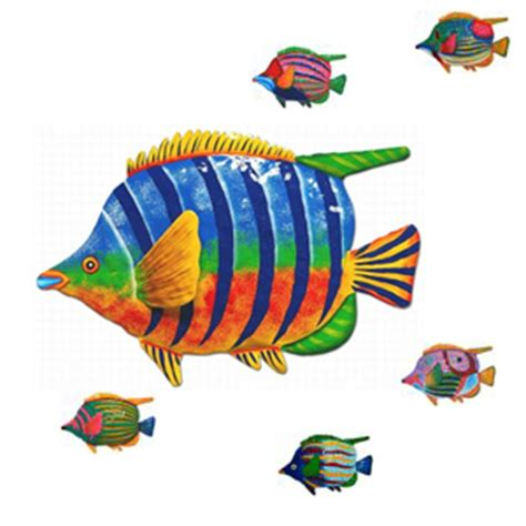 9 quot tropical fish wall decor set of 6 only 79 99 at