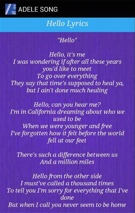 adele hello mp3 download xsongs adele hello lyrics 1 apk download android music audio