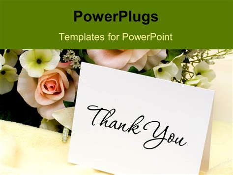 Powerpoint Thank You Card Template Best Professional Flower Bouquet Powerpoint Templates Fashion
