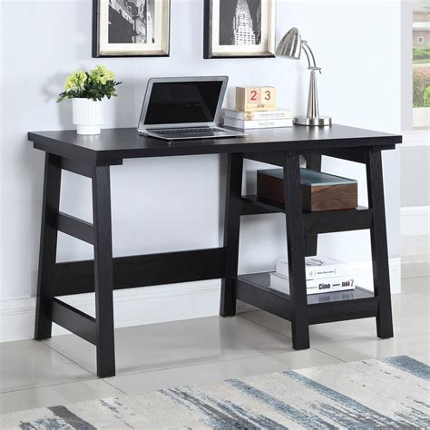 coaster 801870 transitional writing desk with two shelves