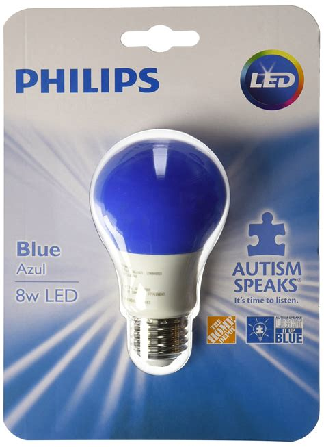 blue light bulbs for autism philips blue a19 nondimmable autism speaks awareness