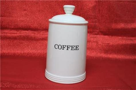 thl ceramic canister set flour coffee tea sugar white