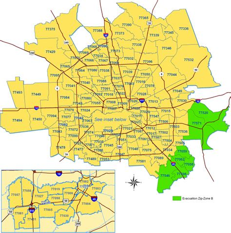 printable zip code map houston tx zipcode map houston my blog
