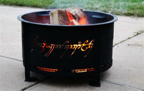 Fireplace Rings by This Pit Is Reminiscent To One Ring From Lord Of