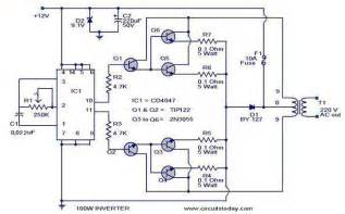 hobi elektronika kumpulan rangkaian inverter perubah tegangan aki dc 12v menjadi listrik ac 220v