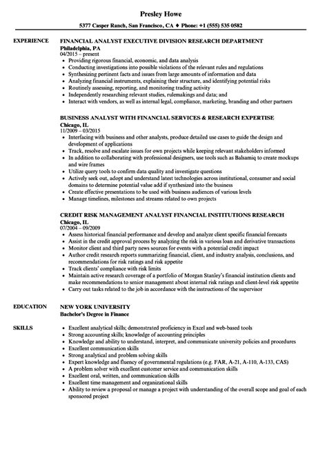 imposing financial analyst resume sle credit analyst resume sanitizeuv sle resume and