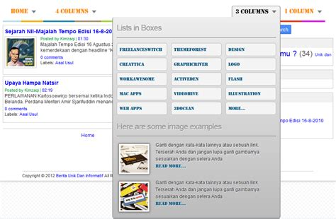 Membuat Menu Dropdown Html | cara membuat mega dropdown menu galerry