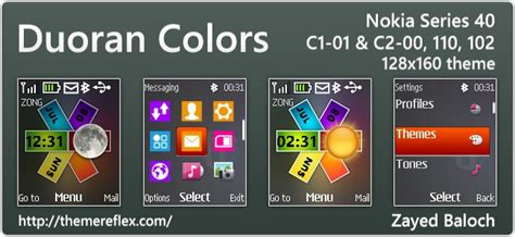themes download c1 duoran colors live theme for nokia 110 112 c1 01 2690