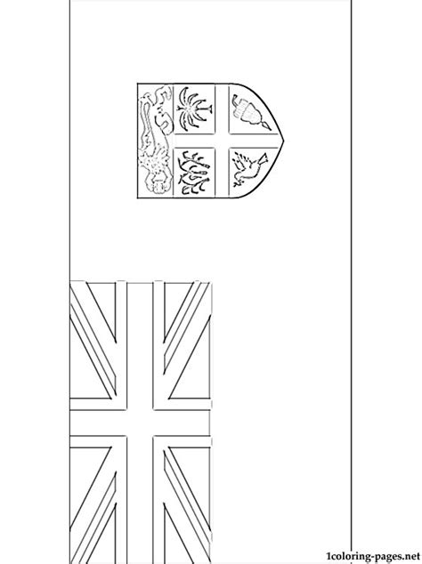 Fiji Flag Coloring Page fiji flag coloring page coloring pages
