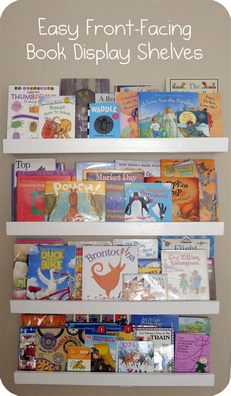 the simple books pieces by polly easy front facing picture book display